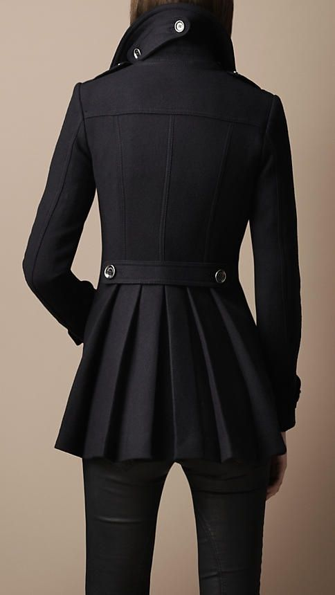 Pleated pea coat! Must have for fall.