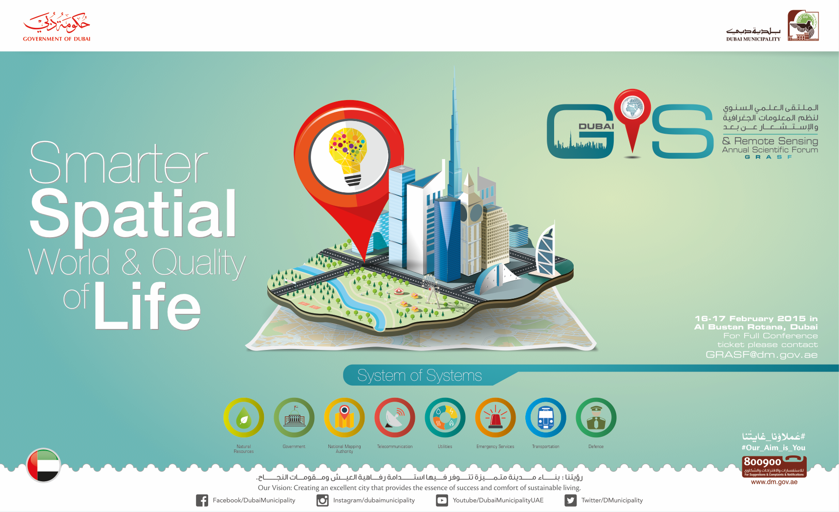 GIS Dubai 2016 on Behance Conference themes, Dubai