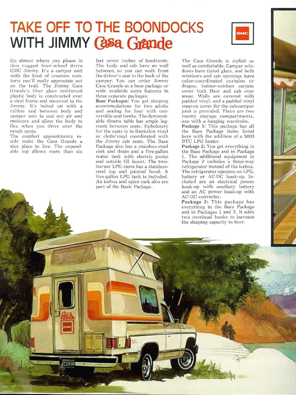 1976 Gmc Jimmy With Chalet Camper Gmc Chevrolet Trucks Chevrolet