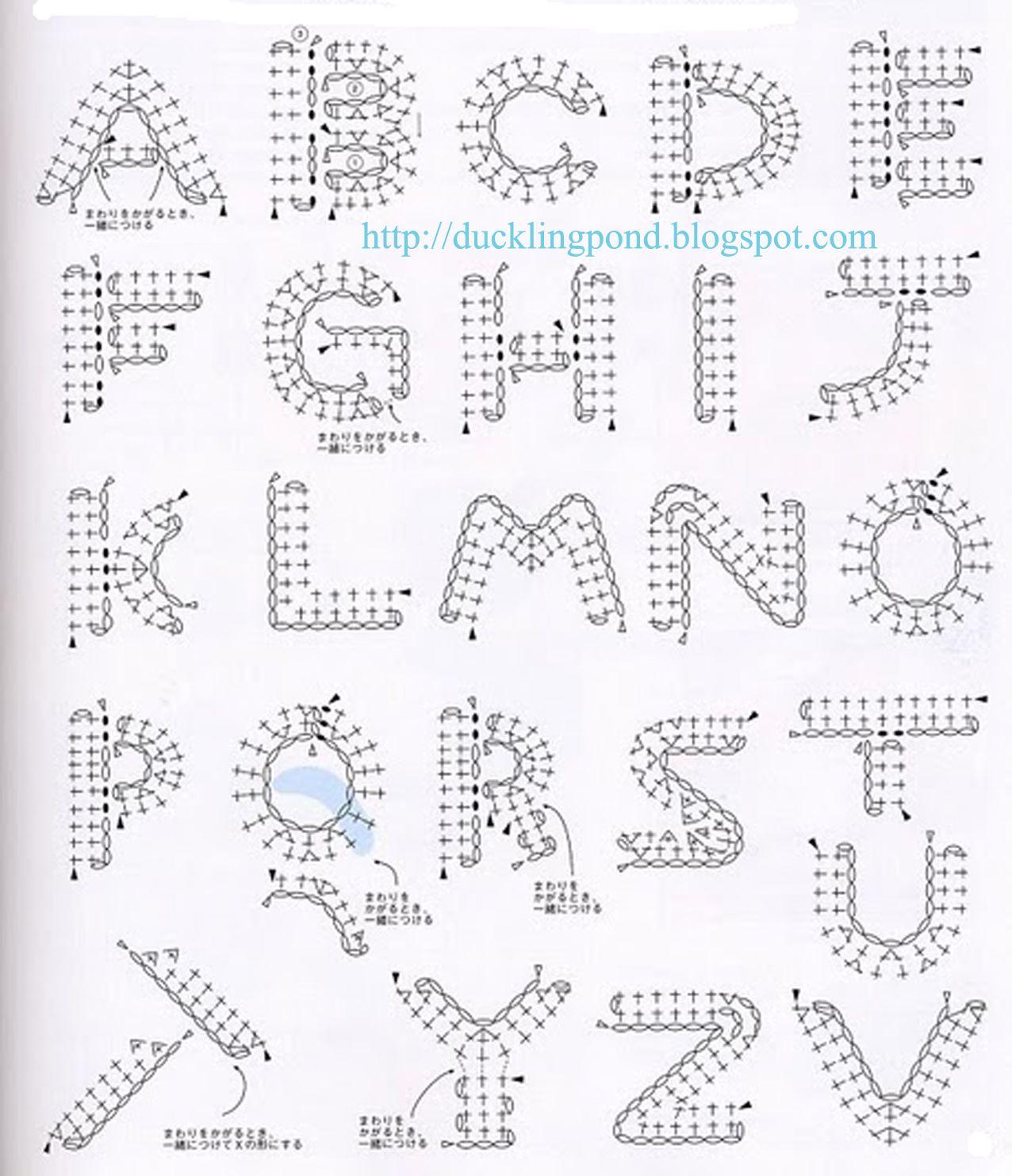 Ducklingpond: Alphabet Motif | Crochet | Pinterest | Crochet ...