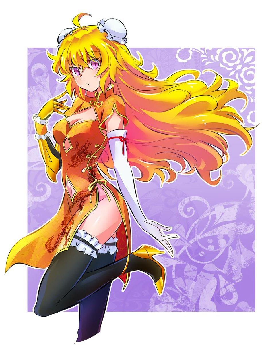 Yang in a China dress Rwby, Rwby fanart, Rwby yang
