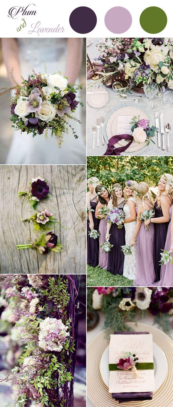 Plum Pinky Lavender And Greenery Spring Summer Wedding Colors