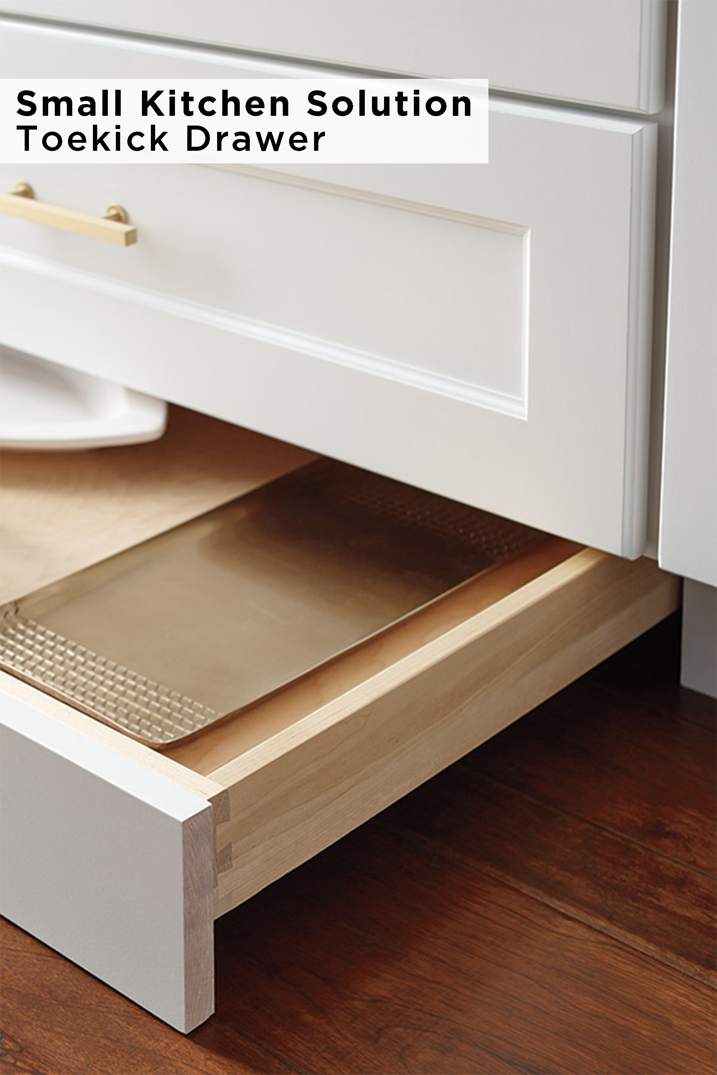 Creating More Storage Is An Easy Way To Add Appeal And Value To Your Home Make The Most Of Your Kitch Toe Kick Drawer Omega Cabinetry Small Kitchen Solutions