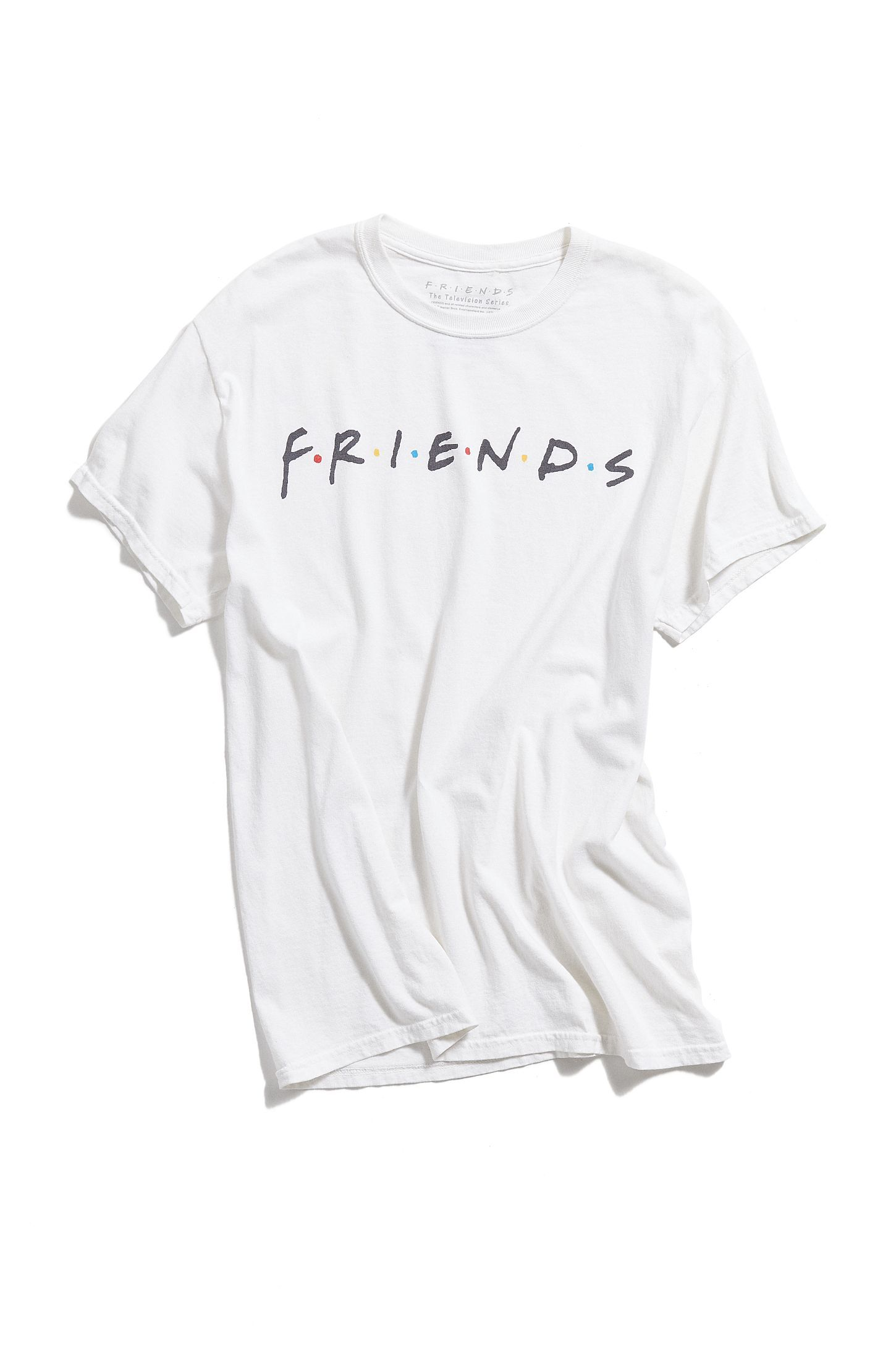Friends Logo Tee Friend logo, Black, white tees, Black