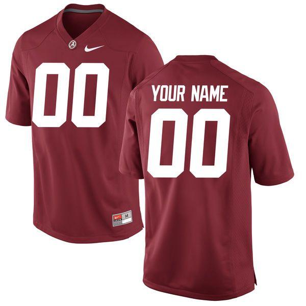newest 86221 8cbb3 Alabama Crimson Tide Nike Youth Custom Replica Football ...