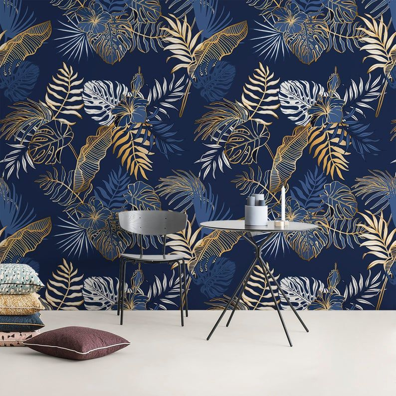 Removable Wallpaper Peel And Stick Wallpaper Wall Paper Wall Mural Contemporary Non Metallic Leaves Wallpaper B024 In 2021 Wall Wallpaper Removable Wallpaper Wall Murals