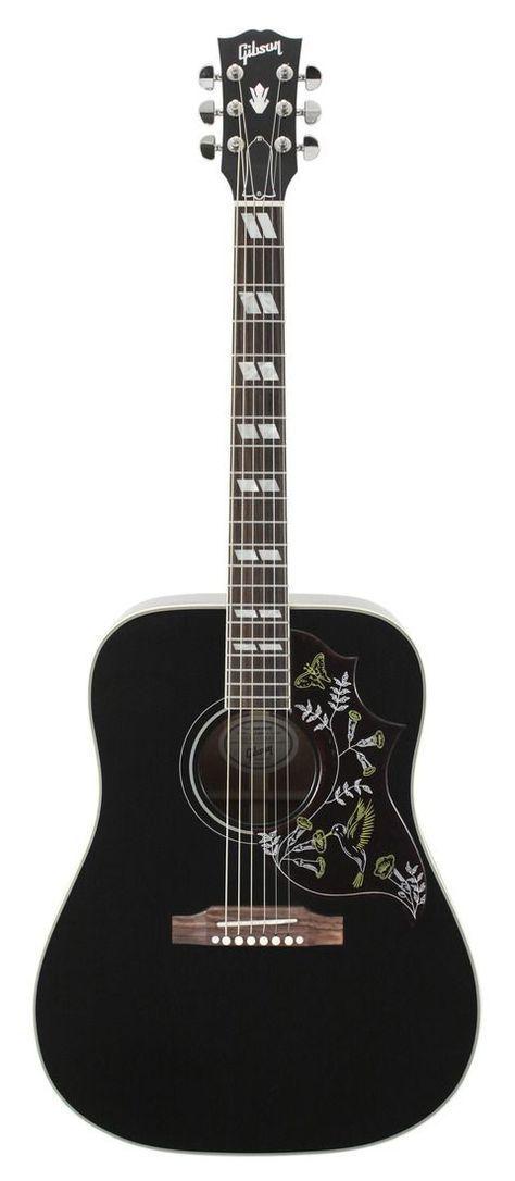 Gibson Limited Edition Hummingbird Rare Black Finish Acoustic Guitar Rainbow Guitars Fender Acoustic Guitar Guitar Black Acoustic Guitar