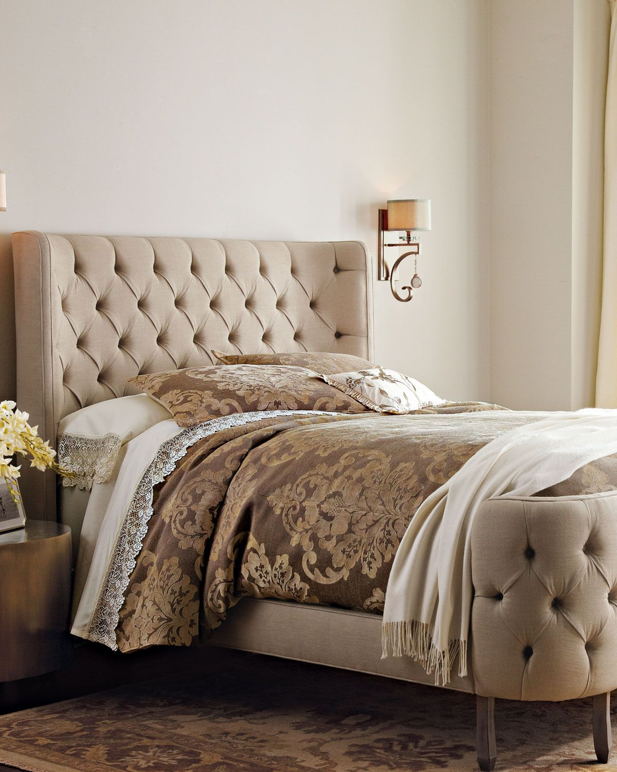 Great Linen Larkspur Bed, Queen, White   Haute House Awesome Design