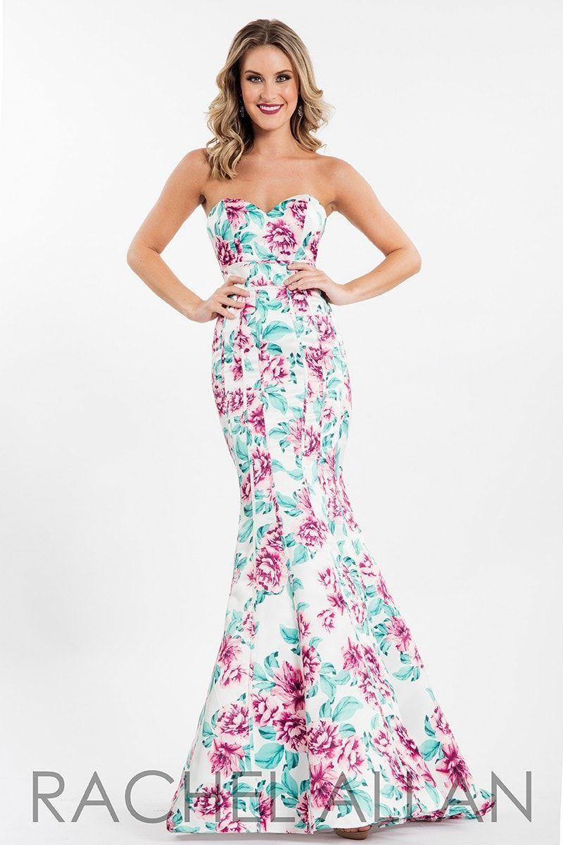 Rachel allan whitepink prom dress products pinterest