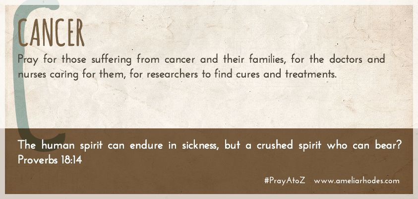 Pray A to Z: Cancer