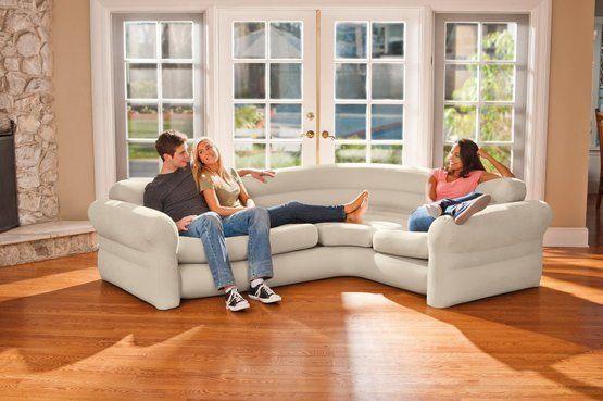 INTEX Corner Sofa Aufblasbare Möbel Perfekte Couch Garten Strand - garten pool aufblasbar