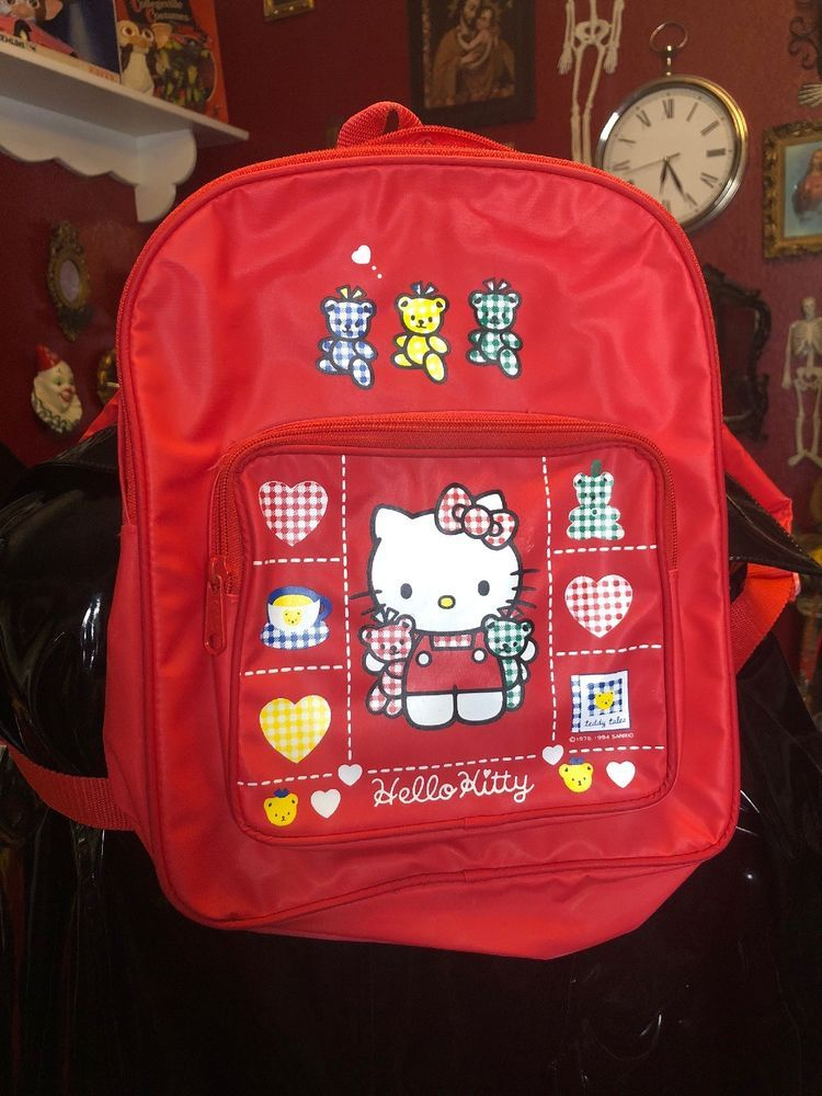 d8b4c81d7f Vintage 90s Hello Kitty Backpack   90s Backpack   Kawaii   School Girl   fashion  clothing  shoes  accessories  kidsclothingshoesaccs   girlsaccessories (ebay ...