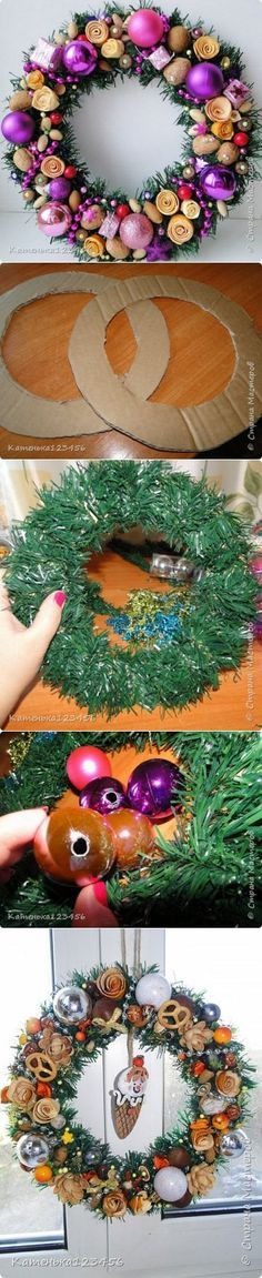corona navideña navidad/halloween Pinterest Coronas navideñas - objetos navideos
