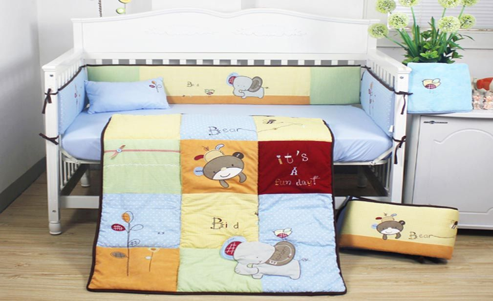 This Is A Beautiful Blue Animal Design Baby Cot Bedding Set For Aussie Bub  Https: