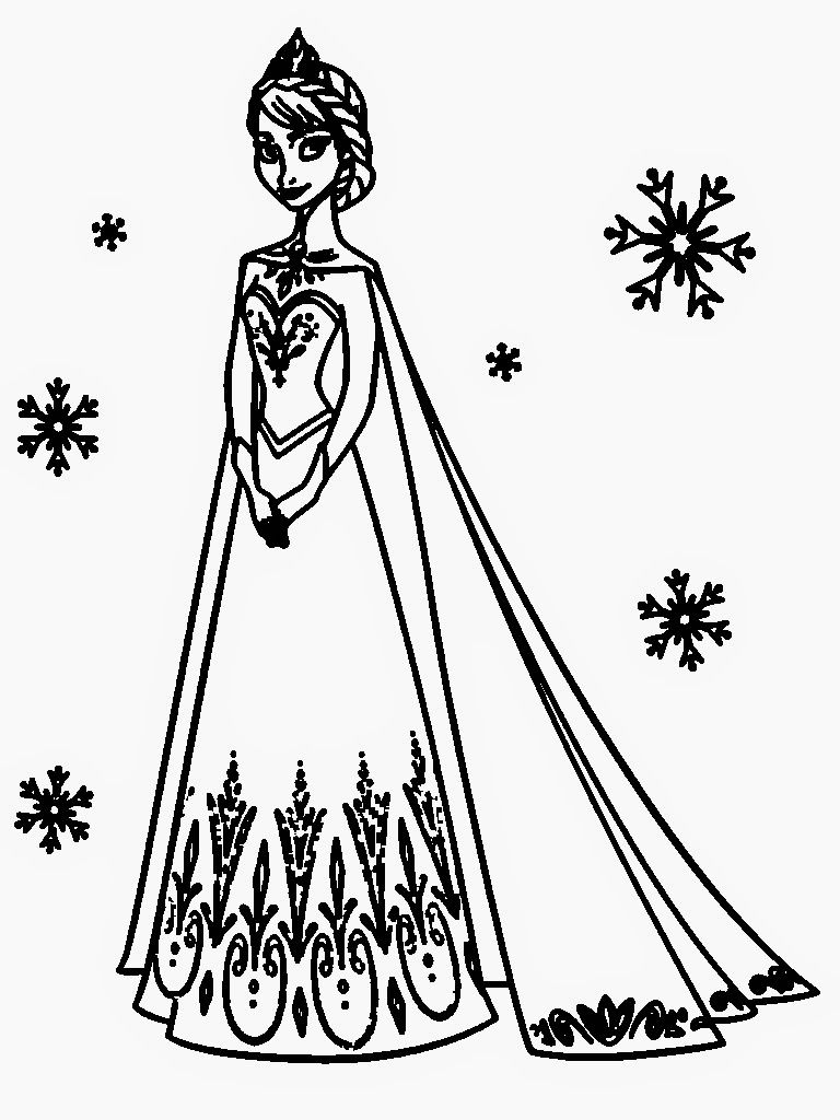 Olaf coloring pages only coloring pages - Printable Anna And Elsa Coloring Pages 05