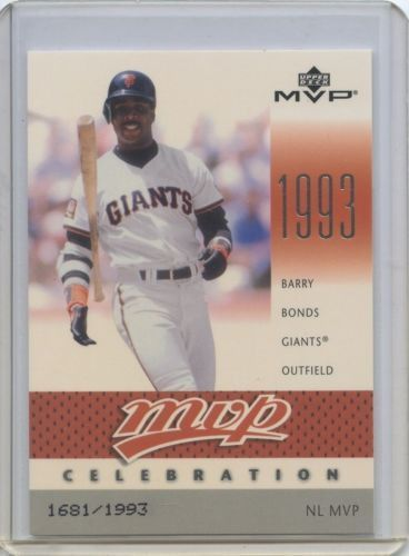 2003 Upper Deck Mvp Barry Bonds Mvp18 16811993 Upper Deck