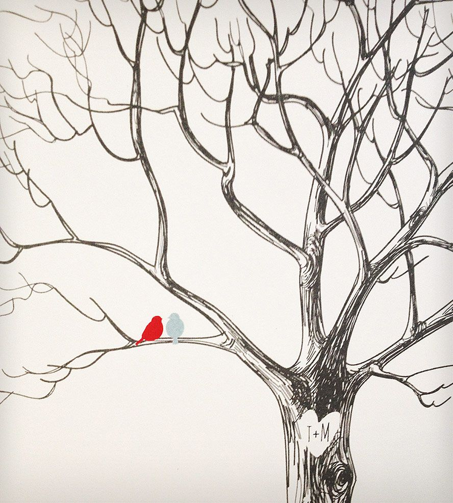 custom wedding tree print art pinterest wedding trees tree
