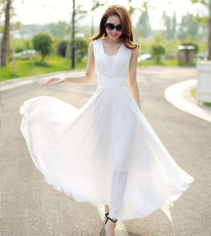edc9e0abd3a Long-Dresses 20+ White Party Outfits Ideas for Women in 2017