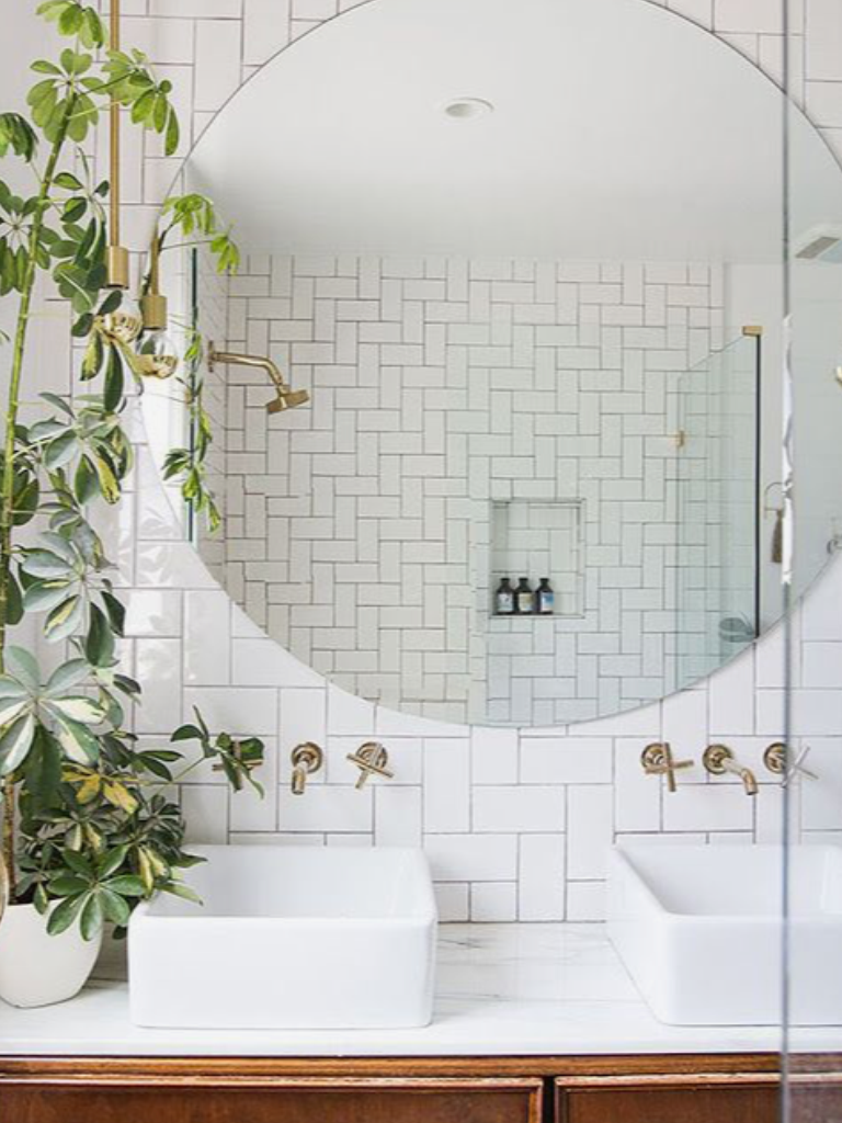 Pin By Mikayla On H O M E Round Mirror Bathroom Amazing