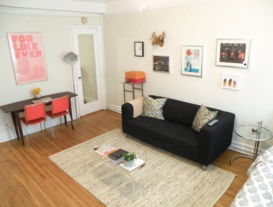 Studio Apartment Solutions small space lessons: floorplan & solutions from tamar's sunny