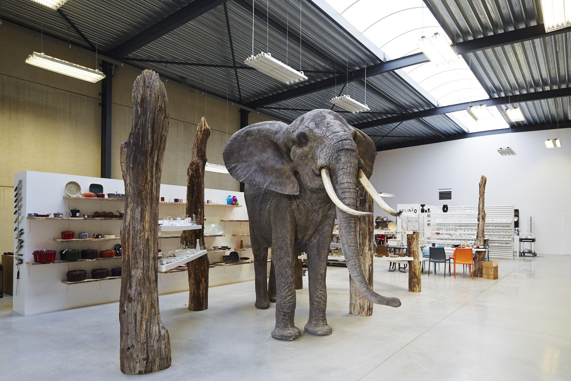 Realisatie Businesspark Berbroek te Herk-de-Stad - inrichting KMO-unit naar magazijn/showroom/atelier