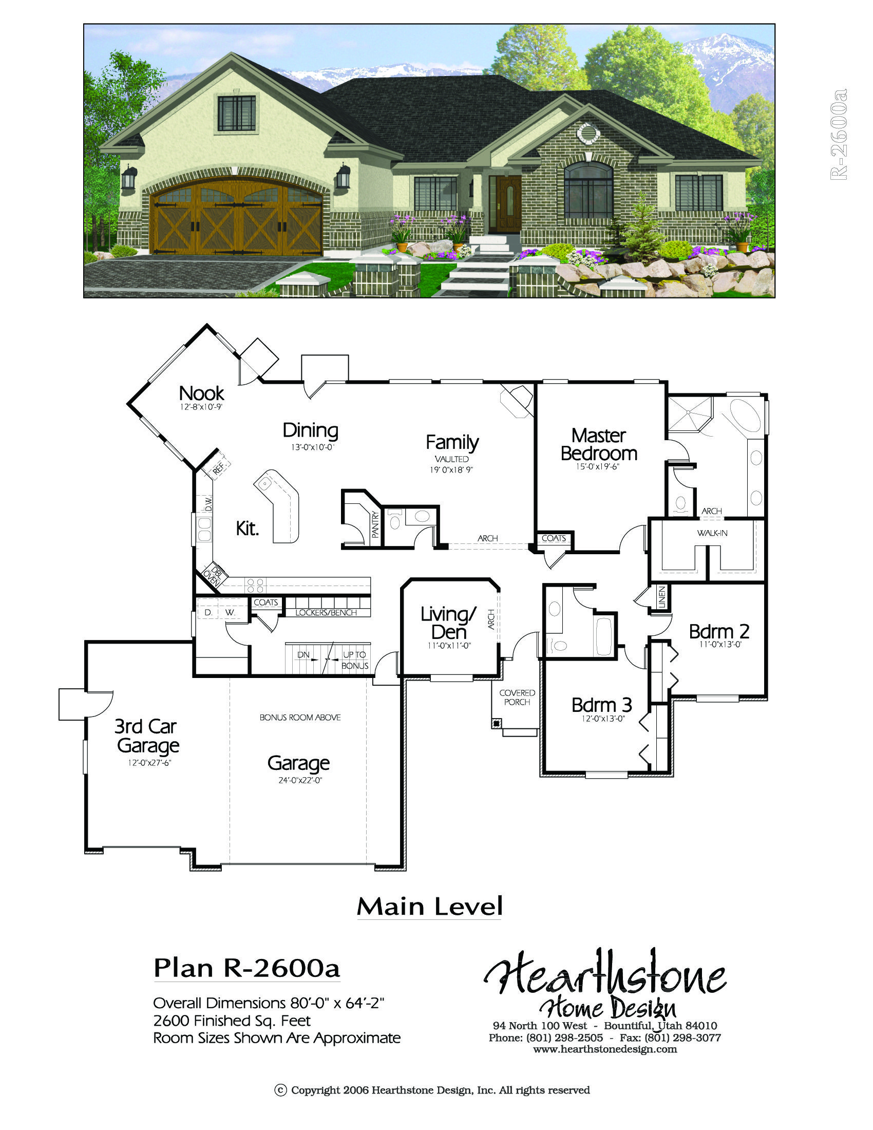 R 2600a Hearthstone Home Design Craftsman House Plans House Plans Farmhouse Country House Plans