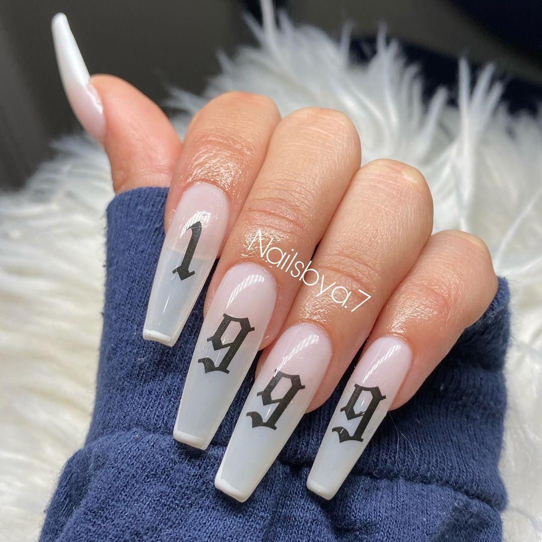 Birth Year Acrylic Nails Apresgelx Apresnails Apresnailofficial Nailsofinstagram Acrylic Nail Designs Coffin Pretty Acrylic Nails Colourful Acrylic Nails
