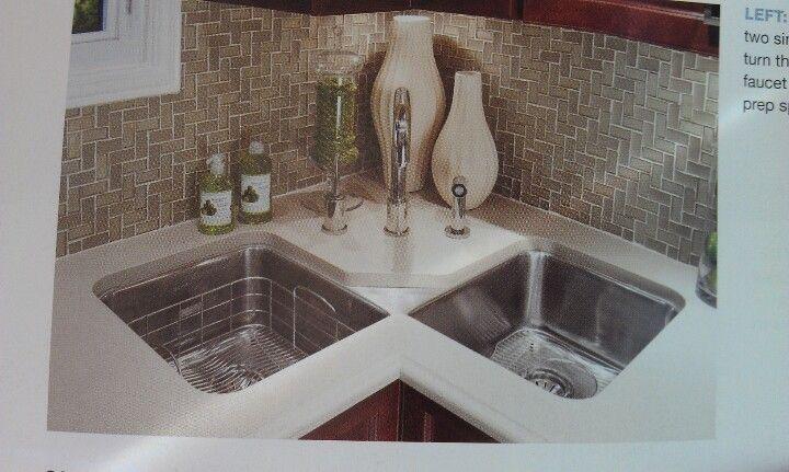 Corner sink | For the Home | Pinterest | Cocinas, Cocina pequeña y ...
