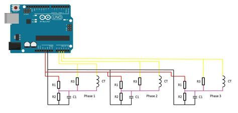 simple 3 phase arduino energy meter ib arduino save energy rh pinterest com