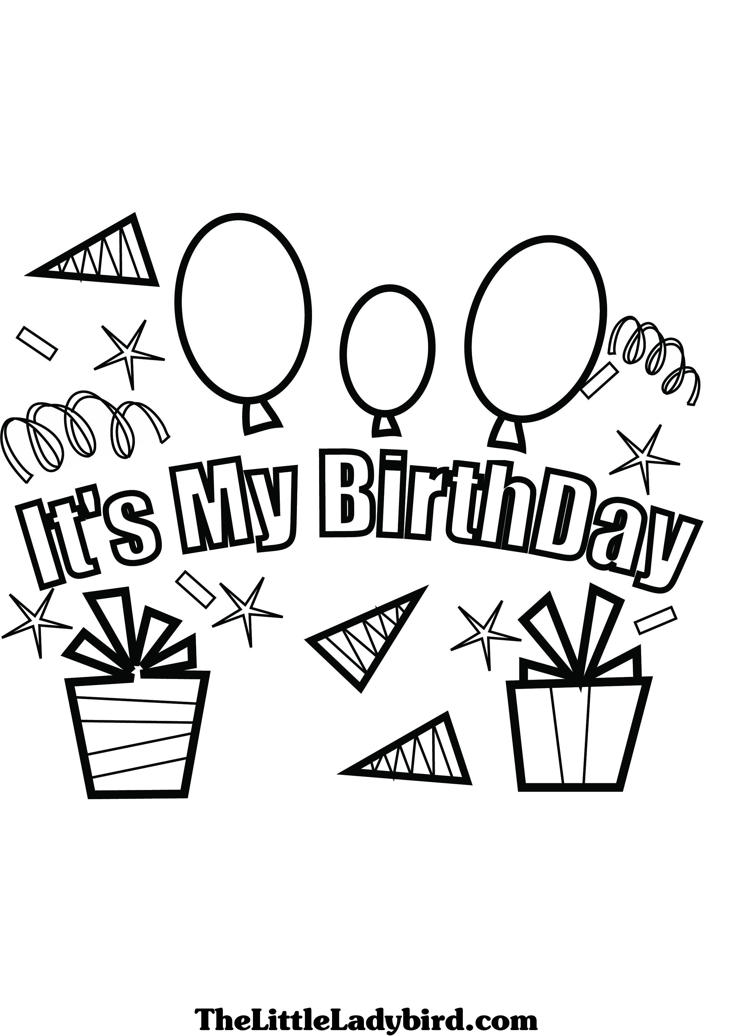 birthday party coloring pages - Bing Images | Kids Coloring for my ...