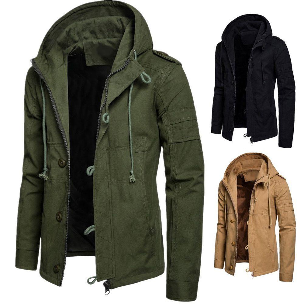 Men S Autumn Winter New Style Cap Cotton Jacket Men Fashion Trend Coat Cotton Jacket Men Jackets Men Fashion Mens Coats Casual [ 1000 x 1000 Pixel ]