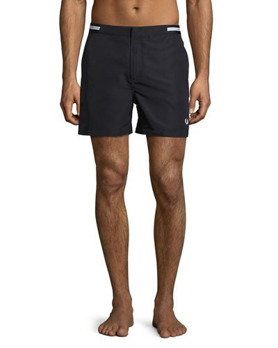 Fred Perry Menswear - Fred Perry Bomber Tape Swim Shorts Black
