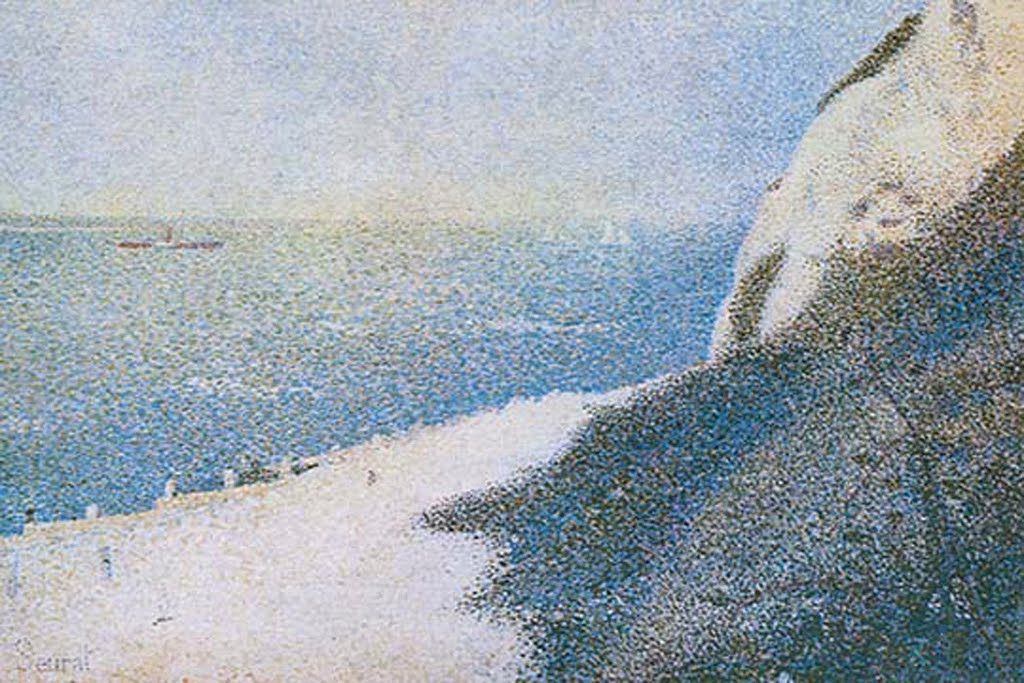 The Cliffs Overlooking The Bay Of Honfleur, by George Seurat