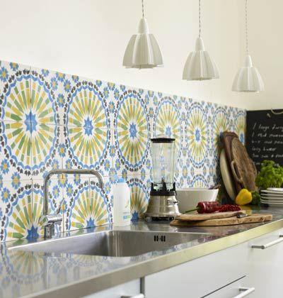 Yellow And Blue Moroccan Tile Backsplash Moroccan Tile