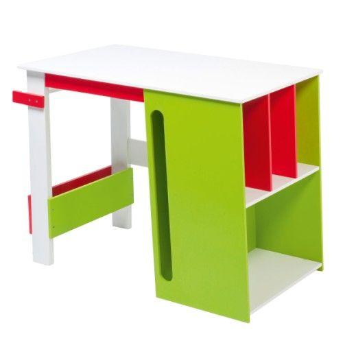 bureau multi rangements vert oxybul pour enfant de 5 ans 10 ans prix promo oxybul veil et. Black Bedroom Furniture Sets. Home Design Ideas
