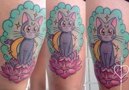 Sailor Moon Luna tattoo by saraink88 #sailormoon #art #ink #tatoo