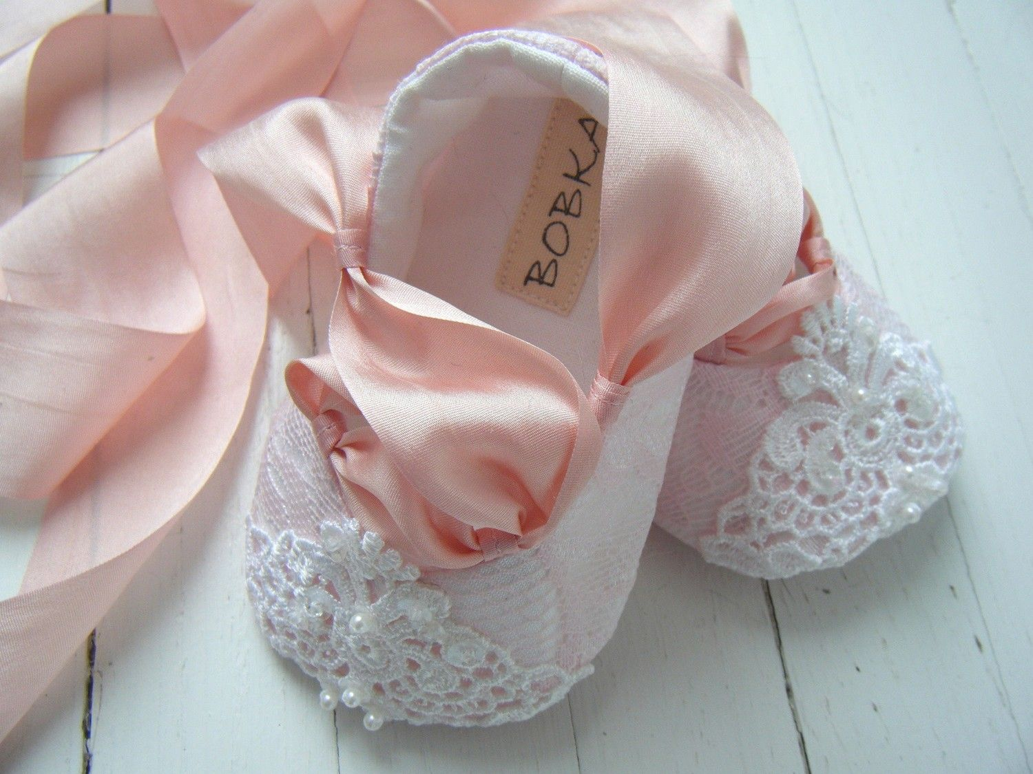 Pink Baby Shoes Baby Ballet Shoes Toddler by BobkaBaby on Etsy ...