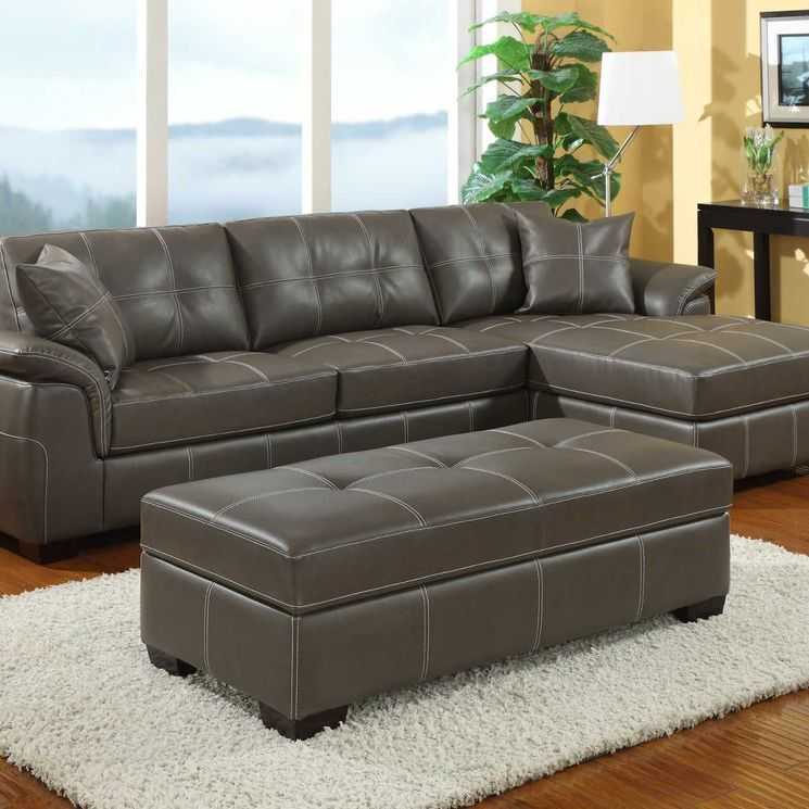 Bonded Leather Loveseat Sectional