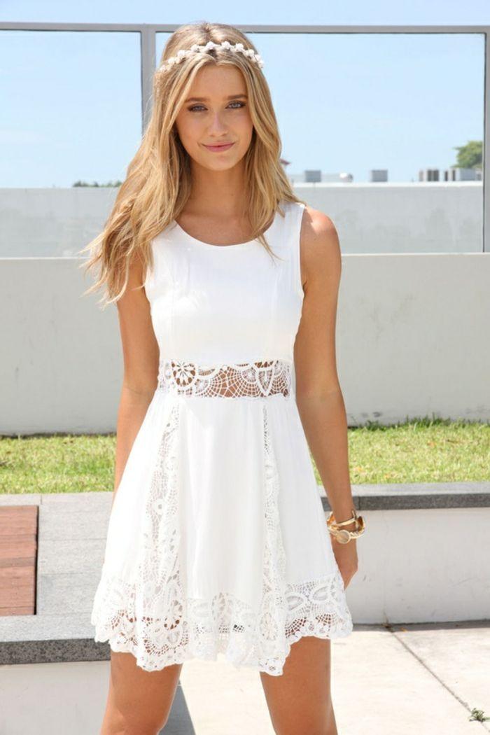 tout à fait stylé design de qualité Chaussures de skate 70 idées avec la robe blanche dentelle en tendance! | summer ...
