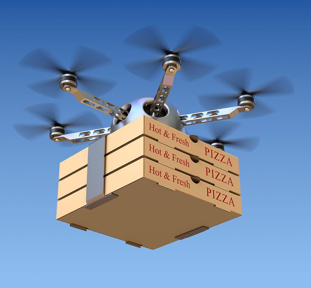 Drone Livraison Pizza Livreur De Pizza Drone Livraison Pizza