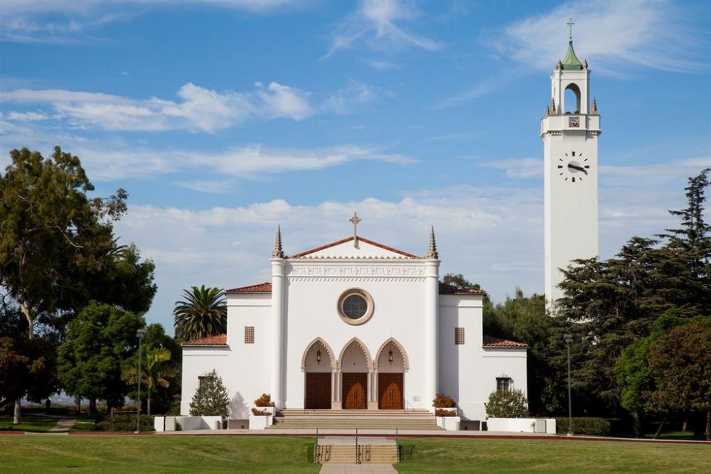Lmu Mass Of The Holy Spirit School Campus Loyola Law School Contemporary Building