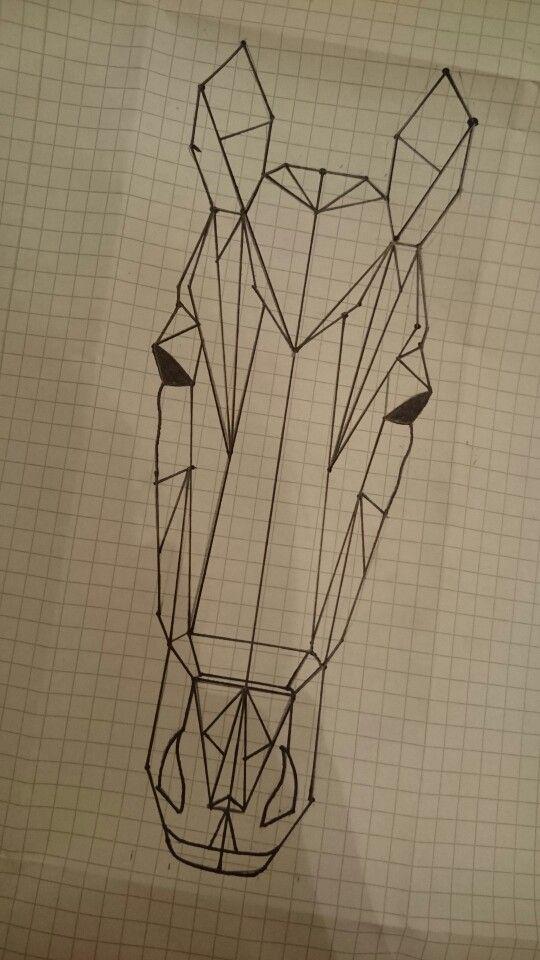 geometric horse tattoo pinterest zeichnen pferde zeichnen und geometrie. Black Bedroom Furniture Sets. Home Design Ideas