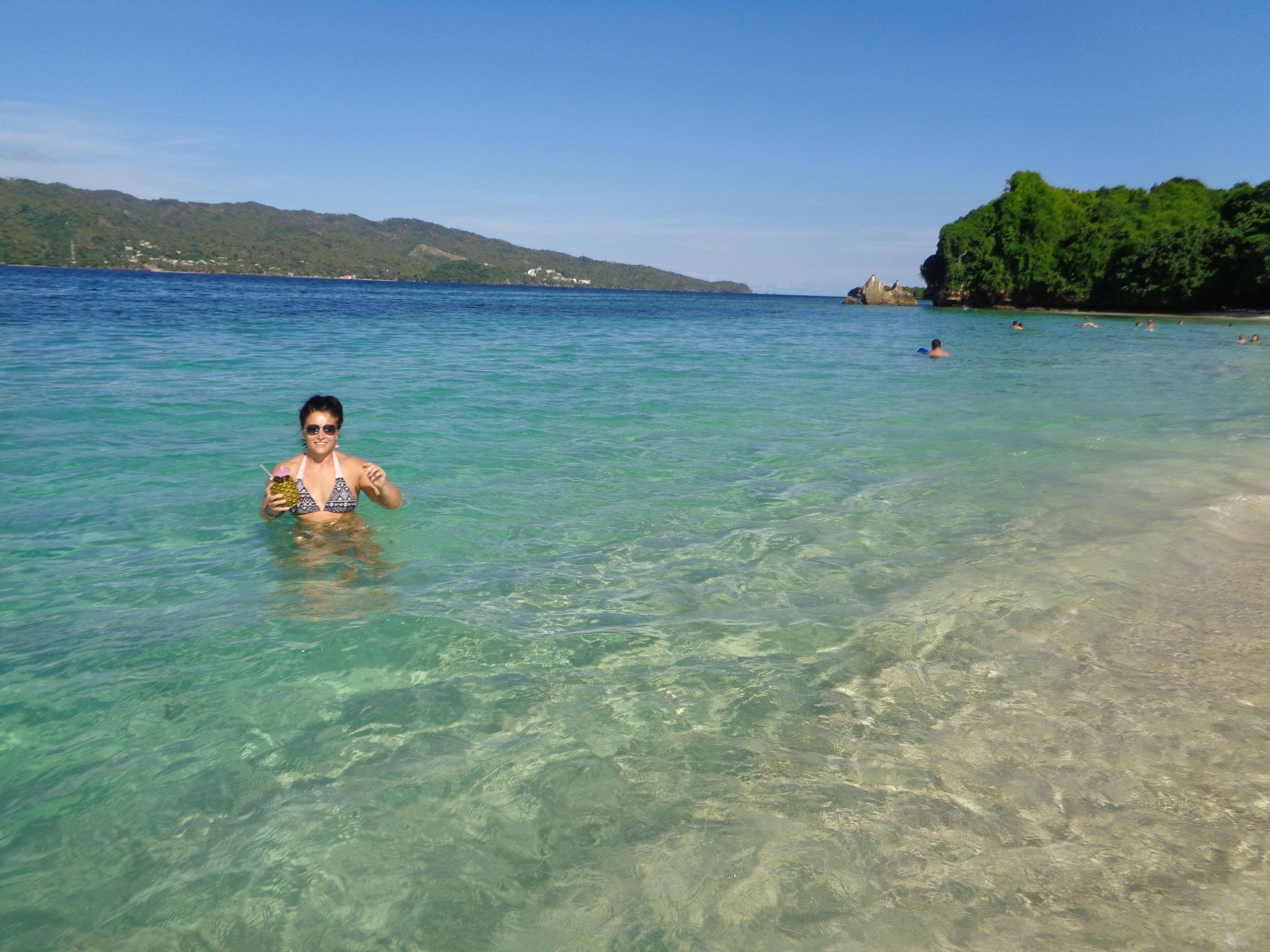 Cayo Levantado Samana Dominican Republic  Small island off the