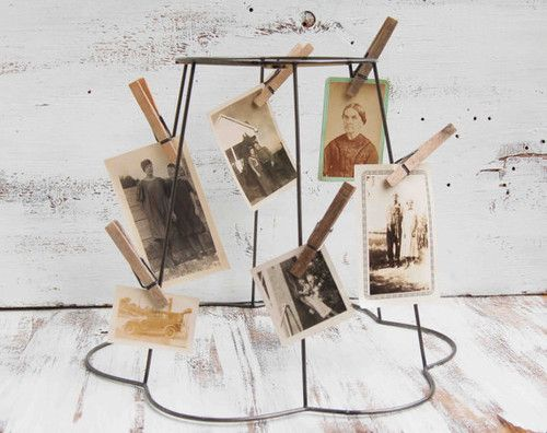 I actually have one of these lamp shade frames. Nice idea. Vintage ...
