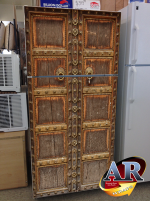 Refrigerator Wrap Old Church Door
