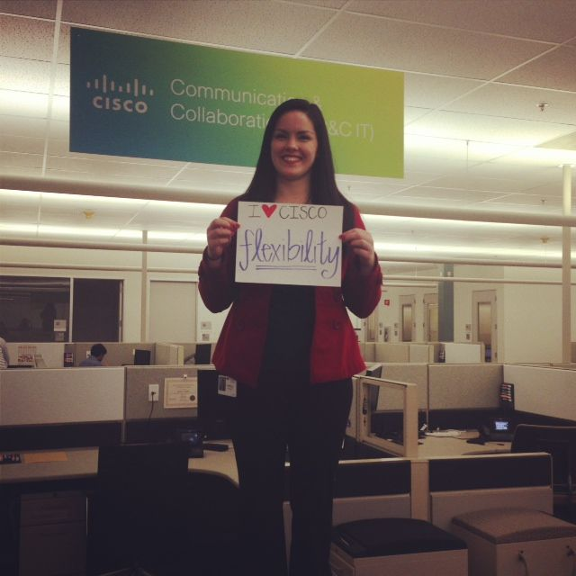 Ravelle Kelley: IT Engineer in RTP. She loves the flexibility Cisco offers.