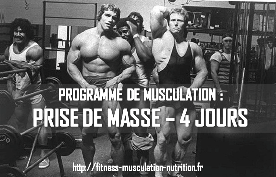 Programme musculation pour prise de masse sur 4 jours ce for Programme de sport musculation