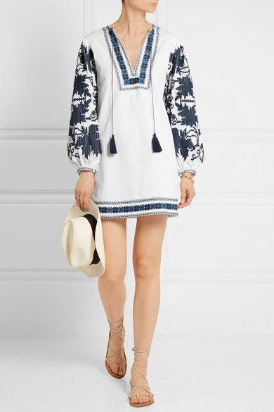 Talitha | Mini-robe en coton à broderies | NET-A-PORTER.COM