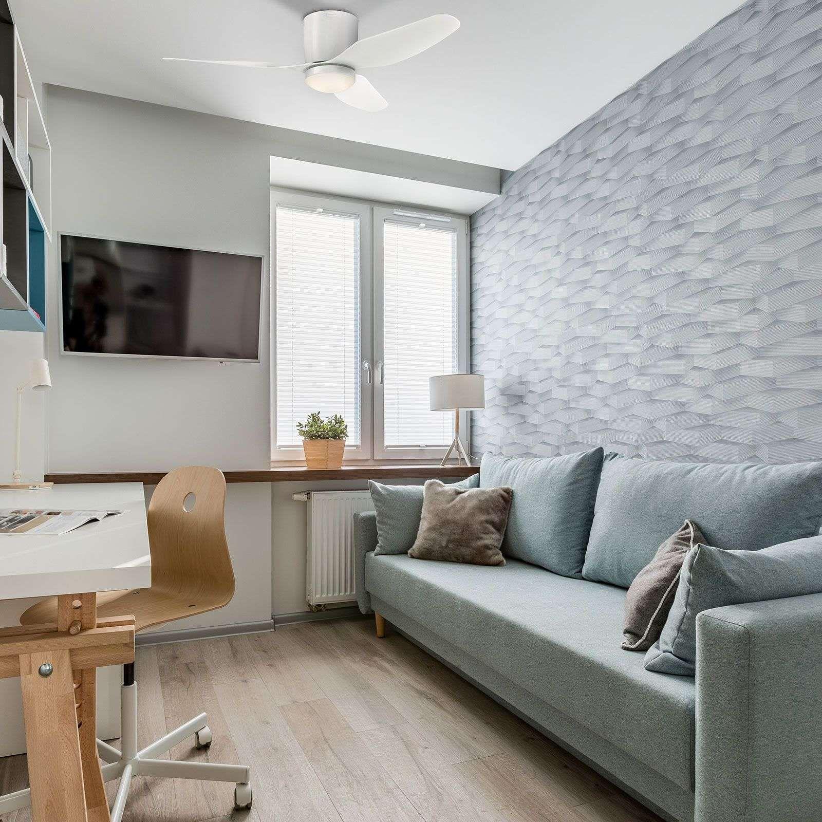 Moderner Deckenventilatoren Mit Beleuchtung Carla Von Westinghouse Weiss In 2020 Deckenventilator Haus Deko Und Ventilator