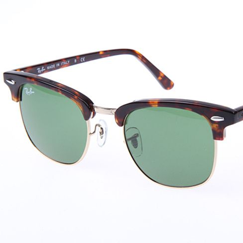 Ray Ban Clubmaster Classic RB3016 W0366 Sunglasses Tortoise With G-15 Green Lens